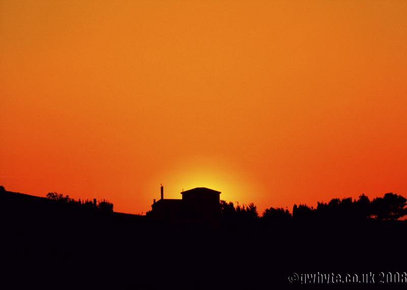 Sunset over Chora